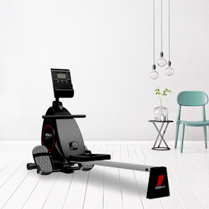 Sportstech RSX400 Máquina de Remo - App multijugador, pulsómetro Incl. máquina de Remo para su casa