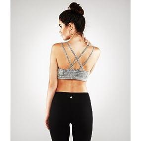 Amazon.com: Manduka Women's Cross Strap Bra: Clothing