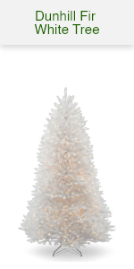 White Dunhill Tree w/white lights