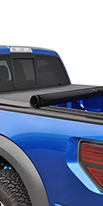 TYGER T1 Soft Roll Up Tonneau Truck Bed Cover