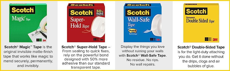 Amazon Com Scotch Desk Tape Dispenser 1in Core Black