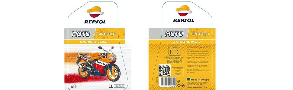 Repsol RP150W53 Moto Sintético 2T Aceite de Motor, 125 ml: Amazon ...
