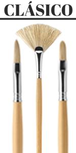 Short Handle Bright Size 6 Escoda Versatil 1542 Series Artist Watercolor and Acrylic Paint Brush