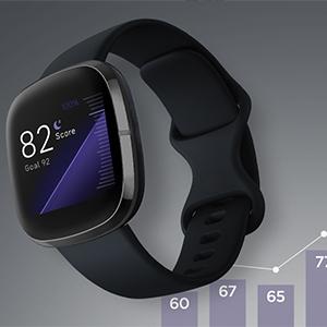fitbit; fitbit sense; smartwatch; health watch; stress management; skin temperature; premium; steps