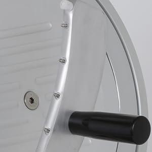 pressamerce in alluminio con manico ergonomico