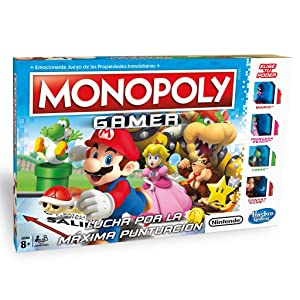 Monopoly Hasbro Gaming Juego De Mesa Gamer Version Mario Bros