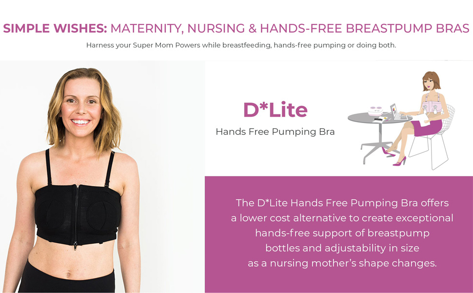 Amazon Com Simple Wishes Dlite Hands Free Pumping Bra Usa