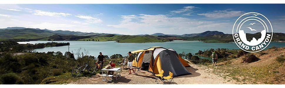 GRAND CANYON Minima - silla de camping plegable, acero, naranja/gris, 308010