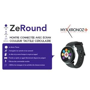 ZeRound: montre connectée avec écran couleur tactile circulaire