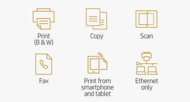 print B&W scan copy fax