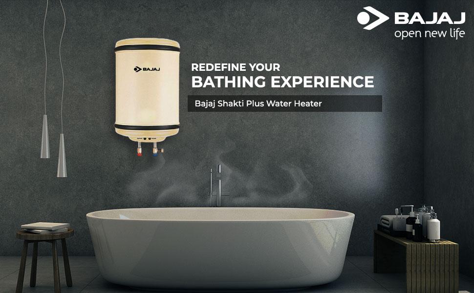 Bajaj Shakti PC Deluxe Storage 25 LTR Vertical Water Heater, Silver,