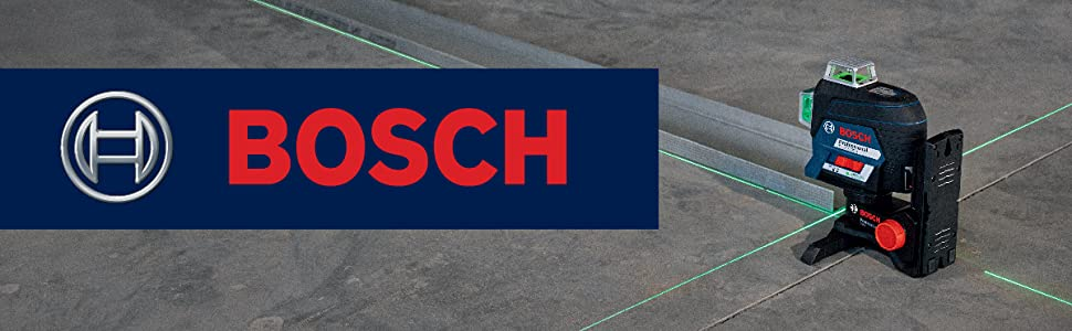Bosch GLL3-330CG 360-Degree Green Beam Three-Plane Leveling and Alignment-Line Laser