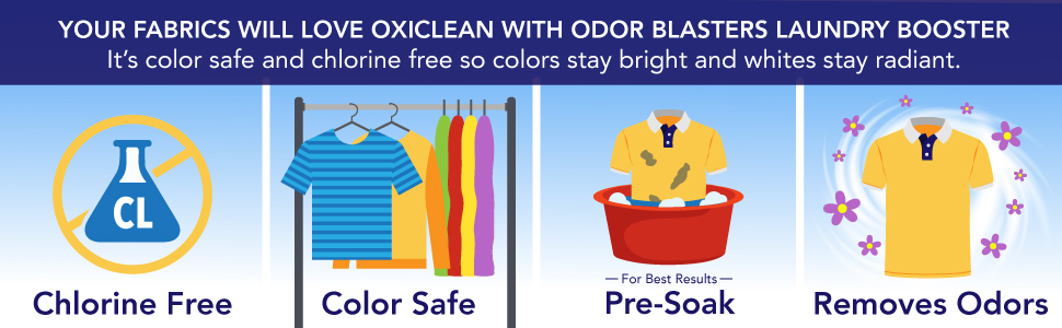Amazon OxiClean Odor Blasters Odor & Stain Remover Laundry