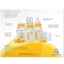 Set de botellas o biberones para leche materna