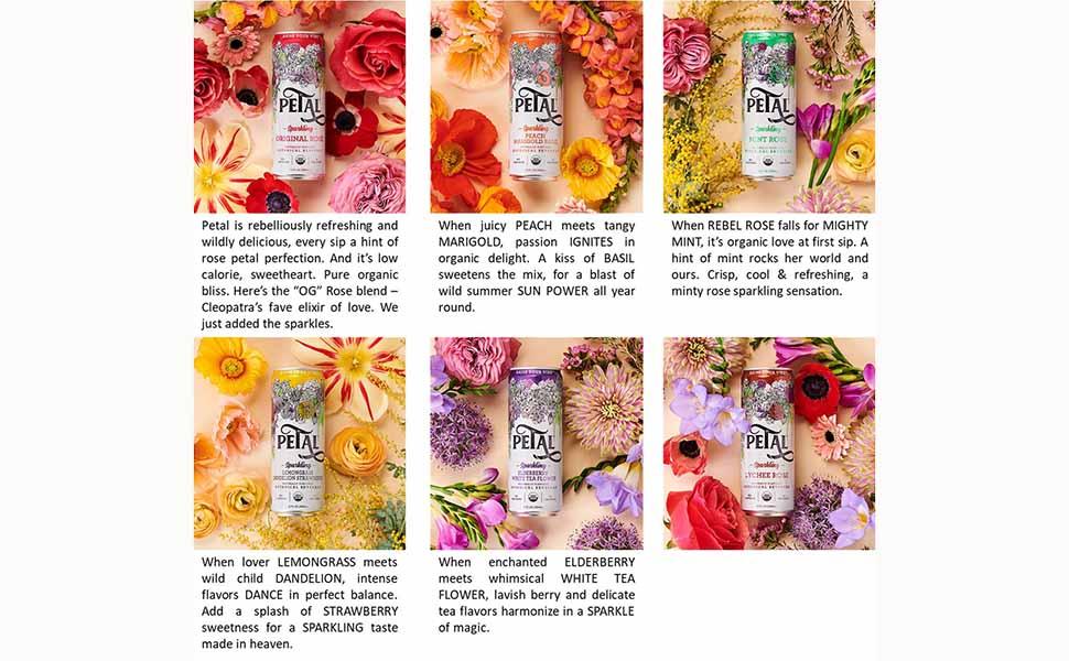 Petal Sparkling Botanical Beverage