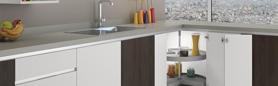 Emuca Extraible de Cocina, botellero de Acero de 2 Alturas, para Mueble bajo de Ancho Interior 115mm, Metal, Color Cromo
