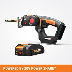 Worx Wx550l 20v Axis 2 In 1 Reciprocating Saw And Jigsaw