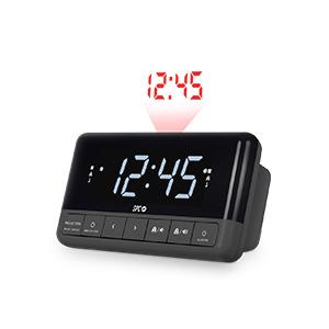 SPC Floki MAX Radio Despertador FM con proyector, Pantalla LED de ...