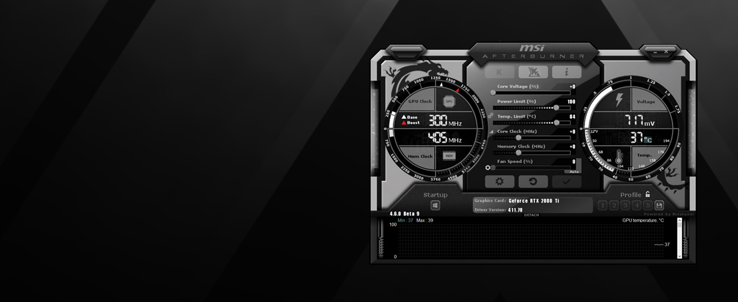 MSI GAMING GeForce RTX 2070 8GB GDRR6 256-bit HDMI/DP/USB Ray Tracing  Turing Architecture HDCP Graphics Card (RTX 2070 GAMING Z 8G)