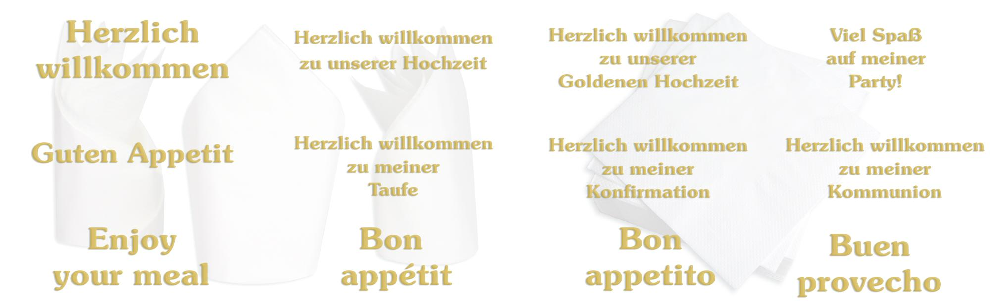 servietten bordeaux pr gung in gold schrift herzlich willkommen zu unserer goldenen hochzeit. Black Bedroom Furniture Sets. Home Design Ideas