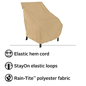 Terrazzo Patio High Back Backrest Chair Cover