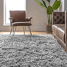 shag, rug, white, plush, area rug