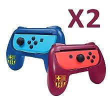 FCB FC Barcelona grips (empuñaduras) accesorio para mando JoyCons ...