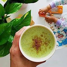 how to make a tea latte matcha antioxidants barista