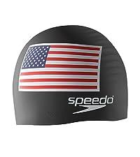 speedo silicone swim cap, american flag swim cap, patriotic cap, swimming cap, swim cap, speedo cap