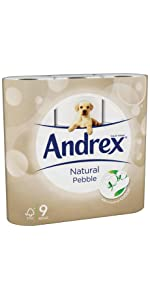 andrex;andrex toilet roll;andrex natural pebble;toilet roll;toilet rolls;toilet paper;moist wipes