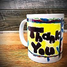 自宅で作れるオリジナルマグカップが完成です