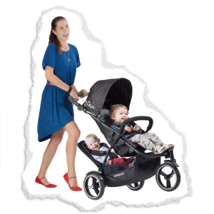 kerb pop for single to double lightweight stroller