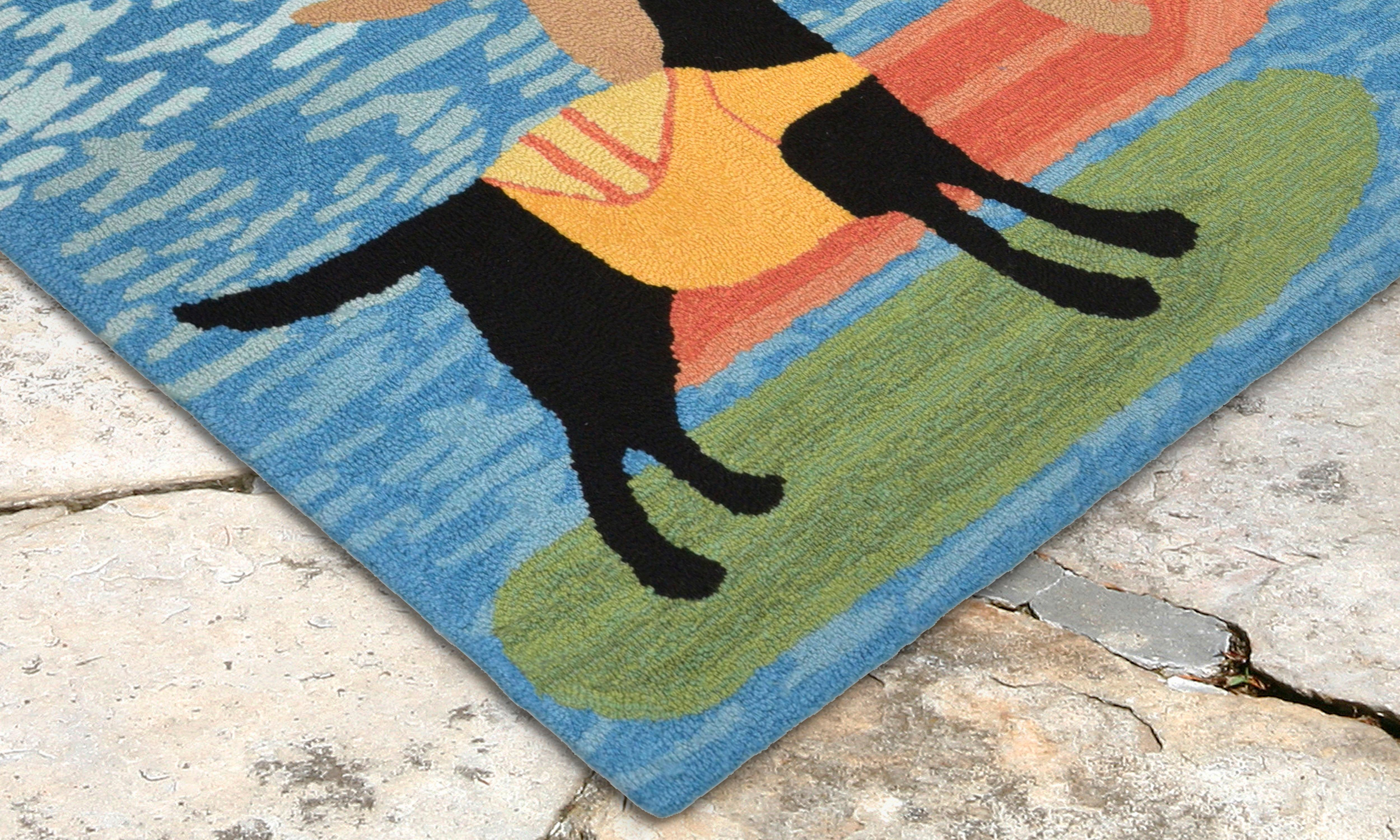 Amazon.com : Liora Manne FTP23240848 2408/48 Rooster Rugs, Indoor ...