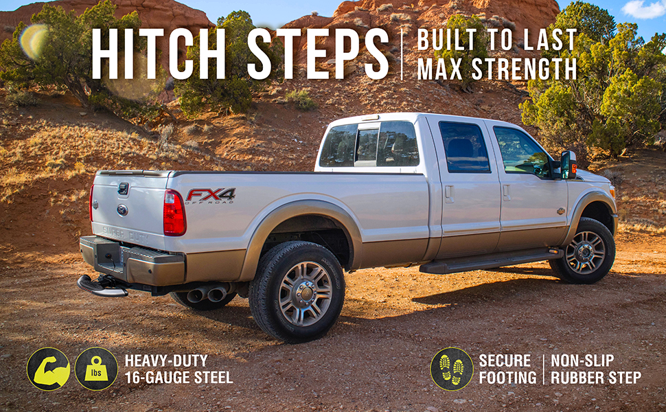 Bully CR-605L Chrome Series Heavy-Duty Truck SUV LED Hitch Step