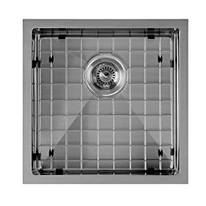 WHNPL1818, Gunmetal, Noah, Plus, Stainless Steel, Kitchen, Sink, Undermount, Drop-in, Grid, Drain