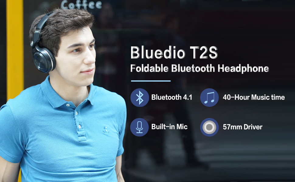 ASTROSOAR - Bluetooth Headsets - Bluedio T2 Head-mounted Wireless Stereo Headphones with micRed