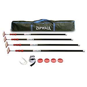 Zipwall Zippole 10 4 Pack Spring Loaded Poles For Dust