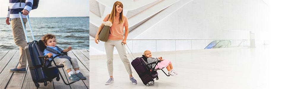 Think King SitAlong Toddler Luggage Seat Sit Along Seat