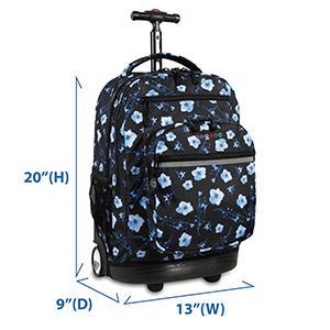 f23829037 Amazon.com: J World New York Sundance Rolling Backpack, Black, One ...