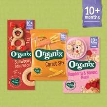Organix, baby food, toddler food, baby snacks, baby cereal, fingerfood, healthy snacks