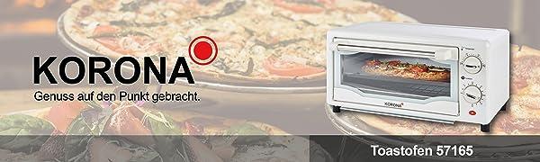 Korona Four à toasts, mini four à pizza, four simple, blanc, four, four à chaud, four à pâtisserie.