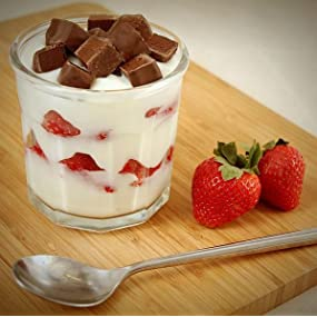 Chocolate Strawberry Protein Parfait made with Pure Protein Whey Powder