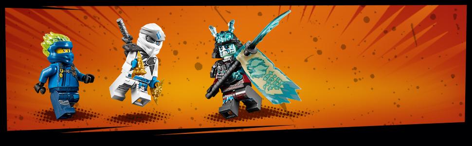 LEGO Ninjago - Shuricóptero Set de construcción de Helicóptero Ninja de juguete, incluye dos Samurais de juguete, Novedad 2019 (70673)