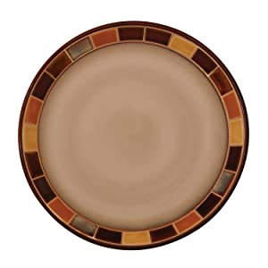Brown Dinner Plate, 11 Inch