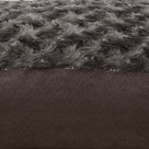 furhaven; image; sleep surface; plush; faux fur; suede; chocolate; brown
