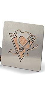NHL Pittsburgh Penguins Stainless Steel Boasters Coasters Set