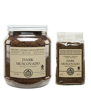 Unrefined Dark Brown Sugar, India Tree Dark Muscovado Sugar, Baking Sugar
