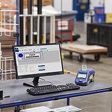 M611 label printer, mobile app, workstation software