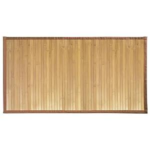 Idesign interdesign alfombra alfombrilla antideslizante bambú cocina baño pasillo marrón repelente