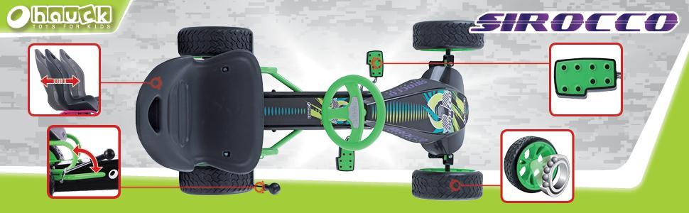 hauck go kart sirocco f r kinder von 4 12 jahren. Black Bedroom Furniture Sets. Home Design Ideas